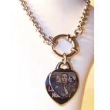 Foto Medalla Acero Quirúrgico Corazón + Cadena Marinero