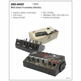 Mini Mixer 4 Canales Zmx-400ef Studioz Bm Music Pacheco Pni