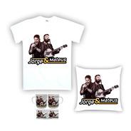 Kit Camiseta, Almofada E Caneca Jorge E Mateus