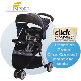 Coche Graco Click Connect Tres Ruedas Licorice Collection