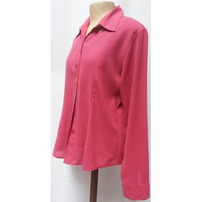 Camisa Feminina Social Em Crepe/shifon G- Seminova