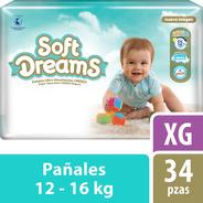 Pañales Etapa 5 Control Gel Talla Xg 34 Piezas Soft Dreams
