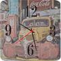 Relógio De Parede Em Madeira Mdf Caminhão Coca Retrô Vintage