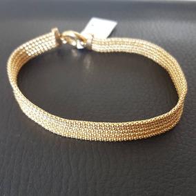 Bracelete Feminino De Ouro 18k - Malha Italiana