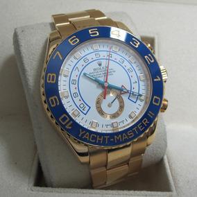 Relogio Yacht-master 2 Todo Gold 18k Ou Misto +caixa E Docs