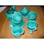Antiguo Juego De Te - Color Verde - Ceramica Nacional