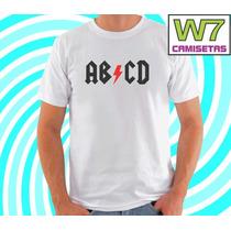 Camiseta Abcd - Acdc Rock - Bandas De Rock - Engraçadas - W7