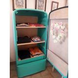 heladera restaurada para uso de mueble