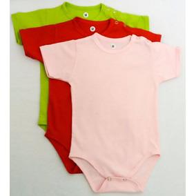 Kit 3 Body Bebê Liso Tamanho M - Pequenos Defeitos