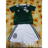 Uniforme Playera Mexico 2018 Local Para Niño Seleccion