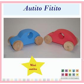 Mini Auto Madera Waldorf Sustentable Montessori