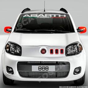 Adesivo Decorativo Parabrisa Abarth Fiat Uno 500 Punto Bravo