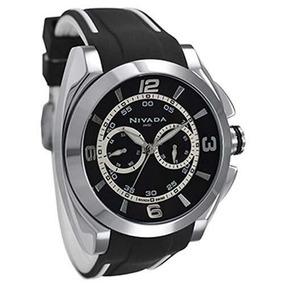 Nivada Np12601macnr Reloj Análogo Hombre, Color Blanco Y Ne