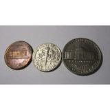 3 Moneda Usa 1 5 Cents Y 1 Dime 1996 1988 1987 Lote U9