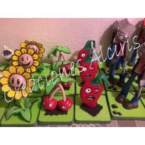 Centro De Mesa, Muñecos, Plantas Vs Zombis, Adornos Fofucha