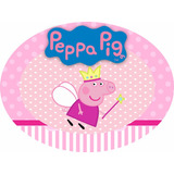 Placa / Painel Elipse Peppa Pig