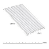 Polygal Lamina Alveolar 4mm 5.90x2.10m Bronce Polygal T Ch05
