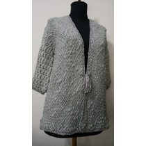 Saco Tejido Artesanal Telar Crochet Lana