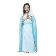 Disfraz Virgen María Pastorela Para Niña Navideño Obra