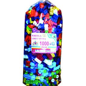 Blocos De Montar 1000 Peças Monte Fácil Promoção