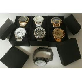 Kit C/10 Relógios Masculino+caixa De Lata Atacado Exclusivo