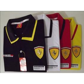 Kit 3 Camisas Gola Polo Ferrari