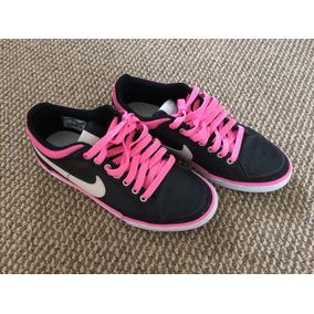 Zapatillas Mujer Nike 38 Negro Y Fucsia