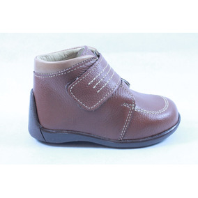 Zapatos Miniburbujas Café Para Niño 12,14 O 15 Mod 25334
