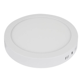 Lampara Led 18w Luminario Redondo Para Sobreponer Blanco