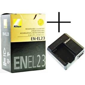 Bateria P/nikon En-el23 + Carregador Mh-67p P900 P610
