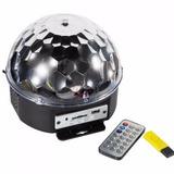 Bola Maluca Led Mp3 Rgb Magicball Usb Controle + Pendrive