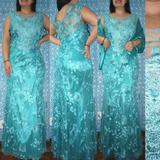 Vestido De Festa Plus Size Madrinhas/mãe/formanda C Echarpe