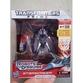 Starscream Transformers Prime Avion Nivel 2 Mediano Con Luz