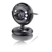 Webcam Multilaser Preta Com Fio 16mp Usb 2.0 Led Wc045 Loi