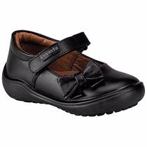 Zapatos Coqueta Piel 170301-a Negro Niña Pv