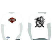 Camisa Camiseta Estampa Harley Davidson Logo Eagle Guns