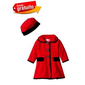 Abrigo Para Bebe Niña Marca Good Lad 18 Meses Rojo Nuevo