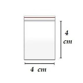 500 Unidades Sacos Abre Fecha Pacote Ziplock 4 X 4 Cm + 1,5