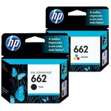 Cartuchos Hp 662 Bundle Combo 1 Tinta Negro + 1 Tinta Color
