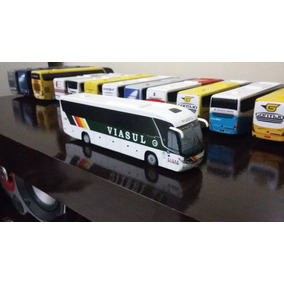 Miniatura De Ônibus Marcopolo G7 Artesanal Da Viasul
