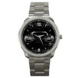 Bmw M3 Negro Logo Sport Metal Reloj Edición Especial
