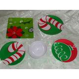 Vajilla Navideña 1 Puesto: 5 Accesorios Navidad Adornos