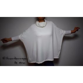 Sweater Polera Volcada Poncho Doble Lanilla Chaleco Hast Xxl