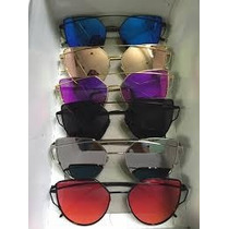 Kit 3 Óculos De Sol Crisdiorr Love Punch Espelhado Atacado