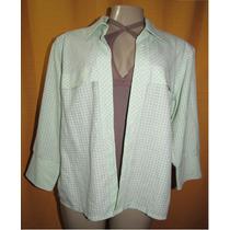 Camisa Xadrez Feminina Tam.médio Grande S/strech Cx2