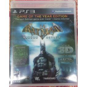 Batman Arkham Asylum Game Of The Year Edition Ps3 3d Novo
