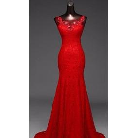 Vestido Noiva Longo Vermelho Casamento Importado Festa