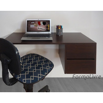 Escrivaninha Suspensa Mesa P/ Computador E Notebook Tabaco