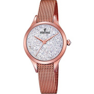 Reloj Mujer Festina Swarovski Dorado Rose F20338 Acero 5 Atm