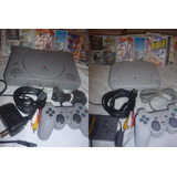 Play Station 1 Fat O Slim Ps1 1 Mando 10 Juegos Abuelogamer